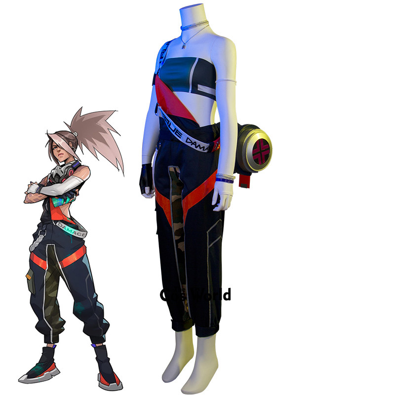 LOL True Damage Akali Skin Boob Tube Top Overalls Uniform Outfit Games Cosplay Costumes 1