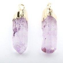 цены на Wholesale Fashion Hot Sale Assorted 6 Color Crystal Natural Stone Pendant  DIY for Necklace or Jewelry Making 40*10mm-50*12mm  в интернет-магазинах