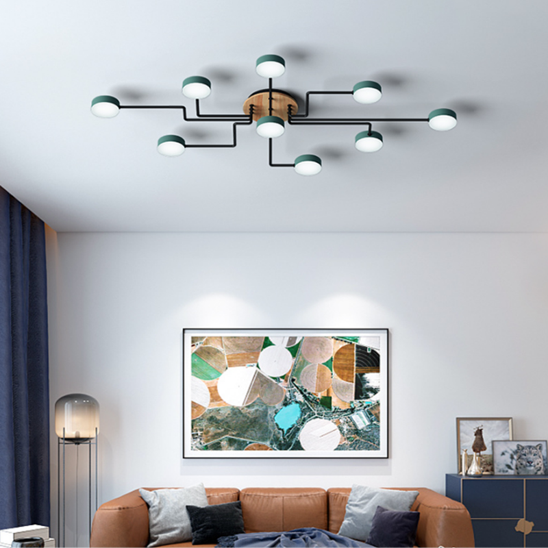 Nordic Modern Living Room Lamp Creative Round Lampshade LED Ceiling Lamp Bedroom Hotel Lighting