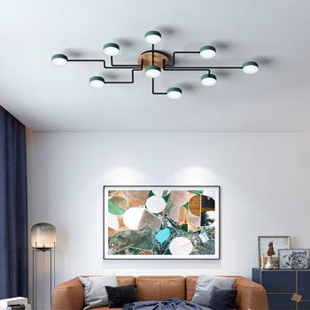 Nordic modern living room lamp creative round lampshade LED ceiling lamp bedroom hotel lighting цена 2017