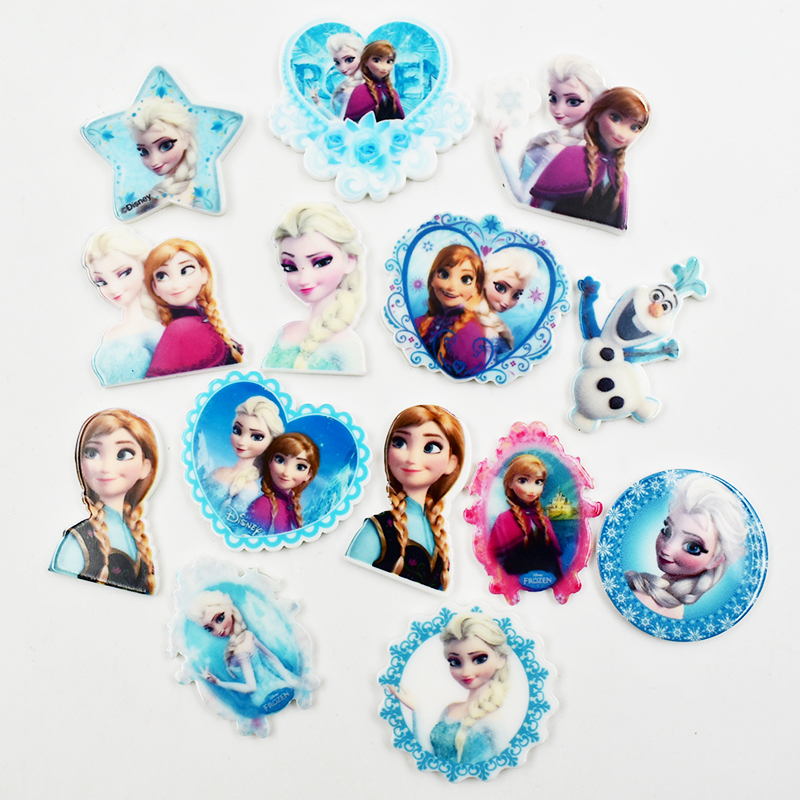 Sofia Jewelry Hair-Pin-Brooch Acrylic Charm Girls Elsa Princess Cartoon for 24pcs/Lot title=
