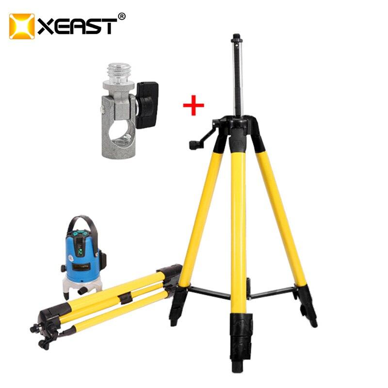 NEUESTE XEAST 5/8 gewinde 0,4/1/1,2/1,5 m stativ von tilt funktionale laser laser mit ein tilt adapter rotary joint oder adapter