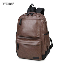 цена на Women Backpack Men Vintage PU Leather Backpack Sac A Dos Large Capacity School Bags For Girls Travel Backpacks Mochila Laptop