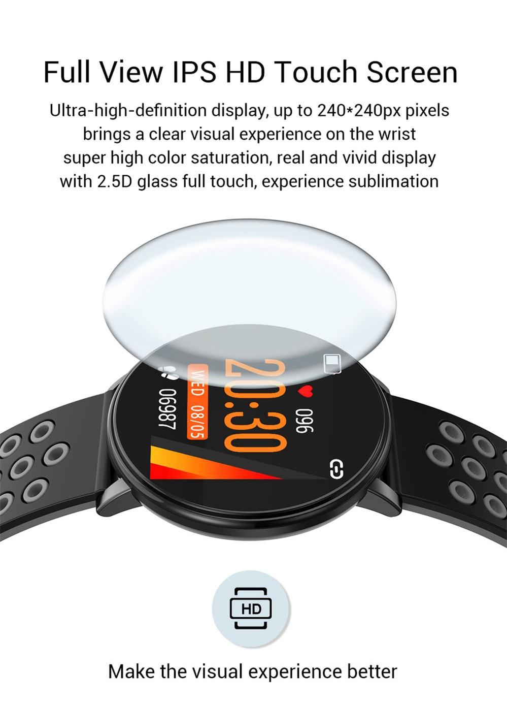 Hd980877e9aa149c090398c983b20c547v Smart Fitness Bracelet Blood Pressure Measurement Fitness Tracker Waterproof IP67 Smart Band Watch Heart Rate Monitor Pedometer