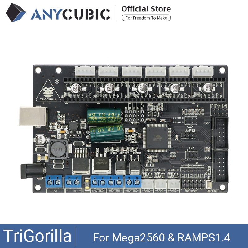 ANYCUBIC Motherboard 3D Printer TriGorilla Main board Compatible Mega2560  amp  RAMPS1 4 4 Layers PCB Controller Board for RepRap