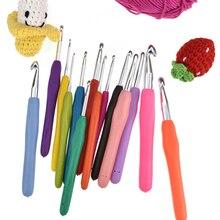 1 шт многоцветные спицы для вязания 2-8 мм Мягкая рукоятка с эргономичной ручкой крючок для вязания вплетать в пряжу спицы для вязания крючком инструменты для изготовления подарка «сделай сам»