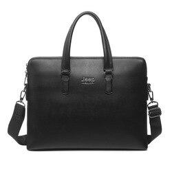 Men Briefcase Bag High Quality Business Famous Brand Leather Shoulder Messenger Bags Office Handbag