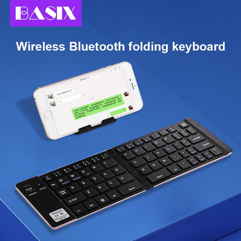 Basix Nirkabel Lipat Bluetooth Keyboard Portabel Bluetooth 3 0 Keyboard Lipat Dilipat Bt Wireless Keypad Untuk Ponsel Laptop Keyboards Aliexpress