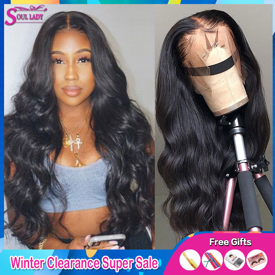 HD Transparent Lace Wigs Top Glueless Body Wave Lace Frontal Human Hair Wigs Pre Plucked With Baby Hair Brazilian Remy Hair Wig