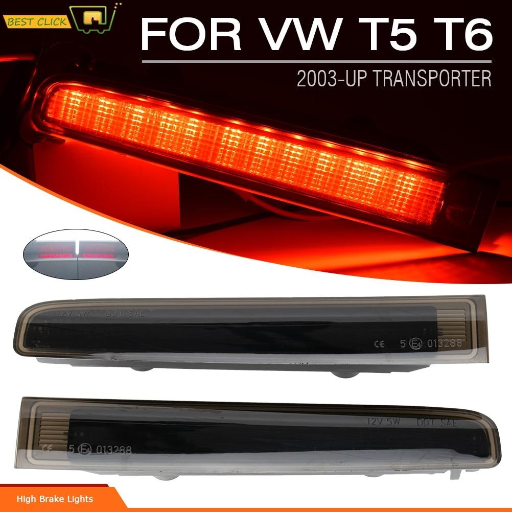 Luz de freno de alto nivel, tercera lámpara de freno, Reflector de parachoques trasero rojo, luz para VW TRANSPORTER T5 T6, puerta de Granero
