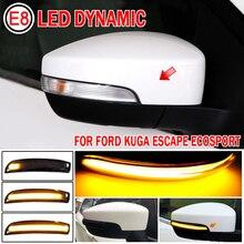 Für Ford Escape Kuga EcoSport 2013   2018 Auto Zubehör Dynamische LED Seite Rückspiegel Blinker Licht Anzeige