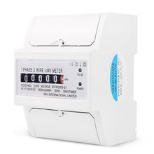 цена на Single Phase 2 Wire Energy Counter Meter Analog kWh 5-100A 230V AC 50Hz Power Meter Household Electric Din Rail Mount