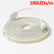 SMD 5730 AC220V LED Strip Super Bright LED Flexible Light Bar 180leds/m High Safety Waterproof Light With 1M2M3M4M5M6M7M8M9M10M