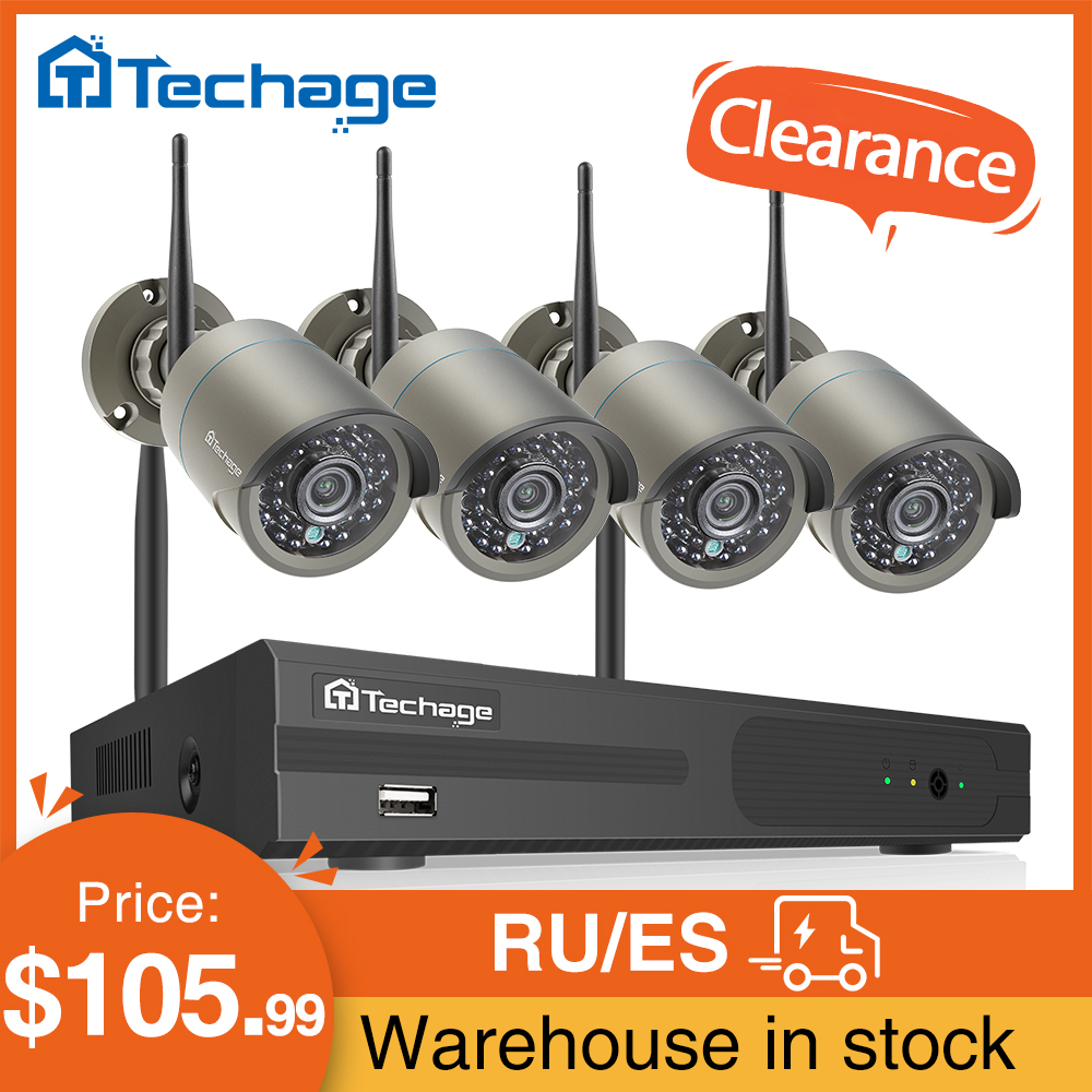 Techage 8CH 1080P Wireless Camera System Audio Record Wifi IP Camera Outdoor Waterproof P2P CCTV Vedio Security Surveillance Set