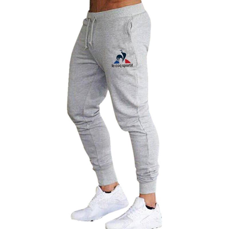 2020 New Men's Brand Men's Trousers Casual Sports Pants Men's Gym Muscle Cotton Fitness Sports Hip Hop Stretch Pants Jogging Pan