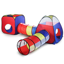 4pcs Baby Crawl Tunnel Tent House Kids Indoor Outdoor Play Wave Ocean Ball Pool Pit Toys Foldable Children Tents Game