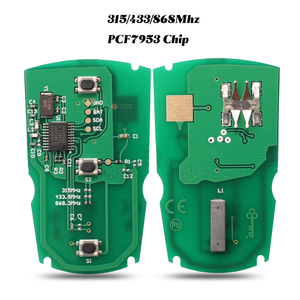 Image 1 - Jingyuqin 5 pces 315mhz/433/ 868mhzfor bmw 1/3/5/7 série cas3 sistema x5 x6 fob id46 pcf7953 chip placa de circuito chave do carro remoto