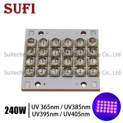 The New 240W Watts LED UV Module  led bead COB Copper base UV solidify 3D Printing 365nm 385nm 395nm 405nm Printer Curing