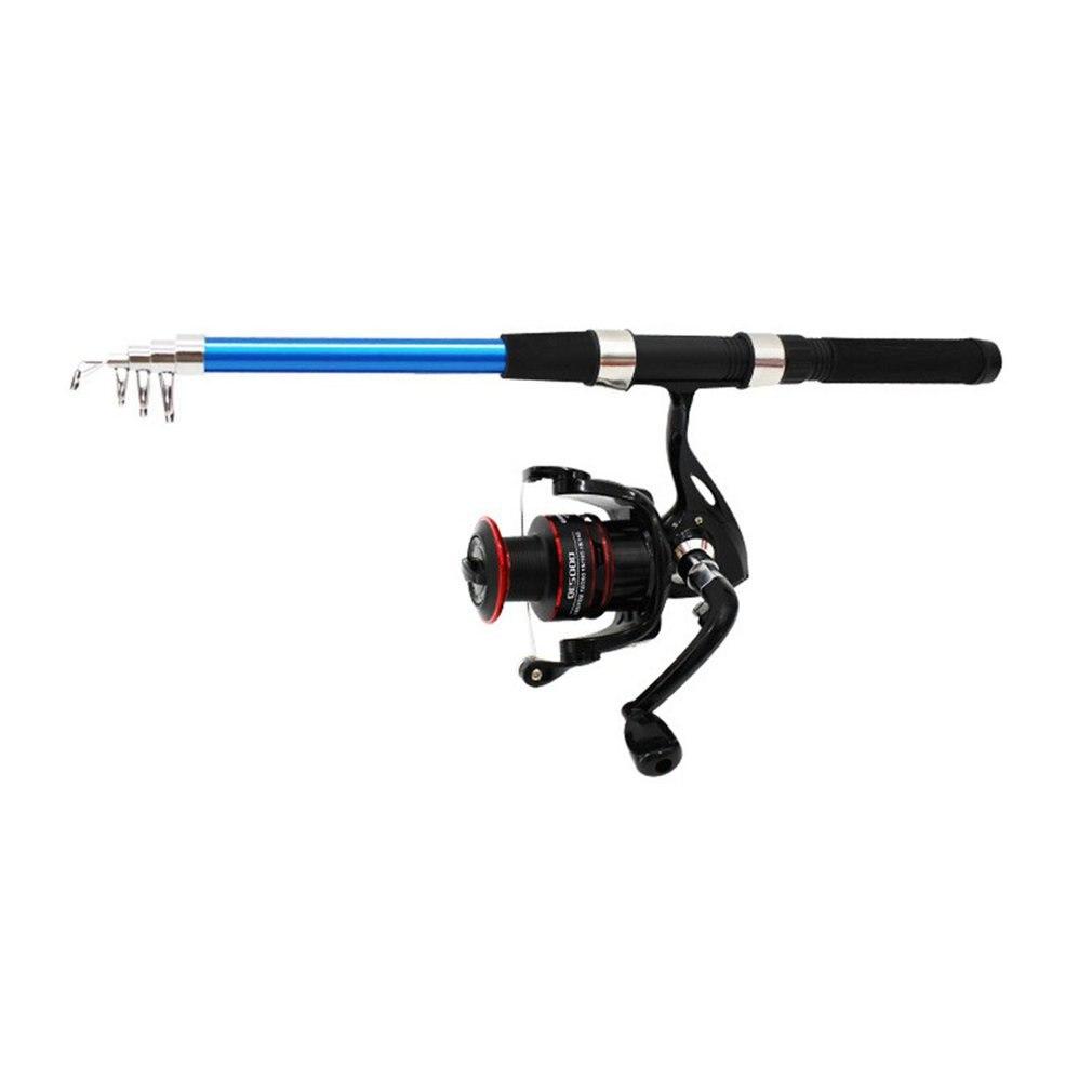 OUTAD 2.4M/2.7M/3M Fiberglass Telescopic Fishing Rod Combo Set Folding Fishing Pole With 200 Fishing Reel Fishing Tools Kits