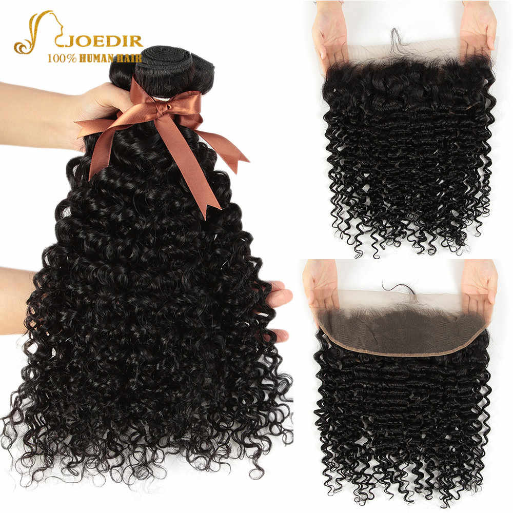 Joedir Hair Water Wave Bundles With Frontal Wet And Wavy Bundles With Frontal 3 Bundles With Frontal Lace Frontal With Bundles