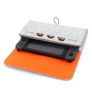 Image 3 - Bolsa de almacenamiento portátil de fieltro para la caja del interruptor NS accesorio del juego tarjeta de memoria titular de la caja de transporte para el juego de consola del interruptor Nintend bolsa nintend interru