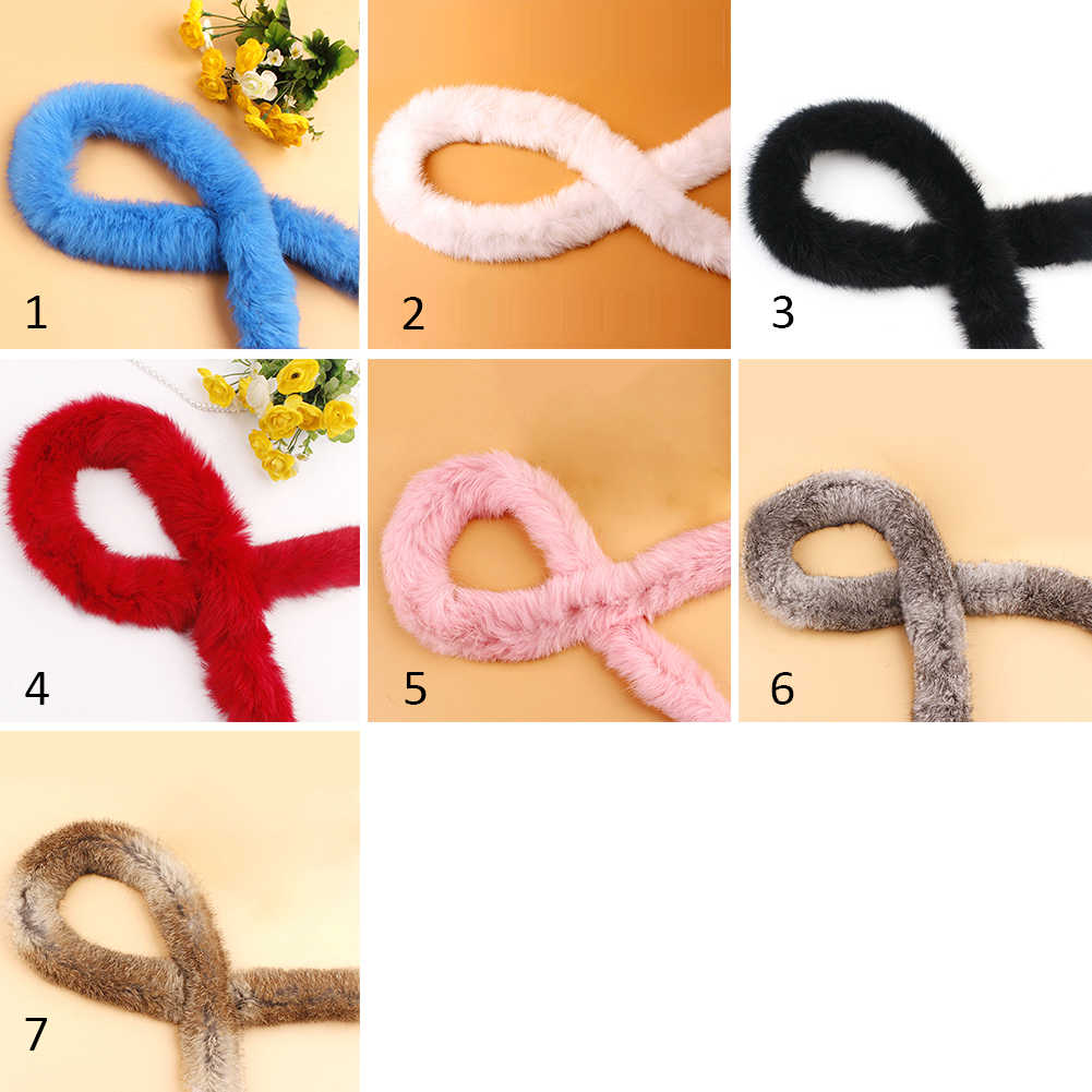 Ribbon Artificial Rabbit Fur Fluffy Furry Tapes Accessories Sewing Costume DIY Trimming Down Jacket