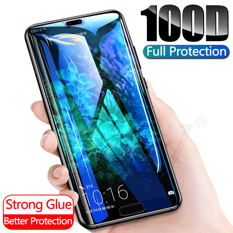 100D Protective Glass For Huawei P20 Lite Pro P30 P10 Lite Tempered Glass For Huawei Honor 20 10 Lite Pro Screen Protector Film