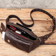 Men's Fanny Waist Packs Genuine Leather Bag Leg Hip Wallet Men Shoulder Hand Coin Bum Belt Money Phone Pouch nerka