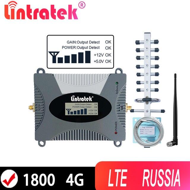Lintratek 4G Cellular Repeater 1800 LTE 4Gอินเทอร์เน็ตเครื่องขยายเสียงสำหรับข้อมูลBand 3 1800Mhz 2Gโทรศัพท์มือถือBoosterพร้อมรัสเซีย