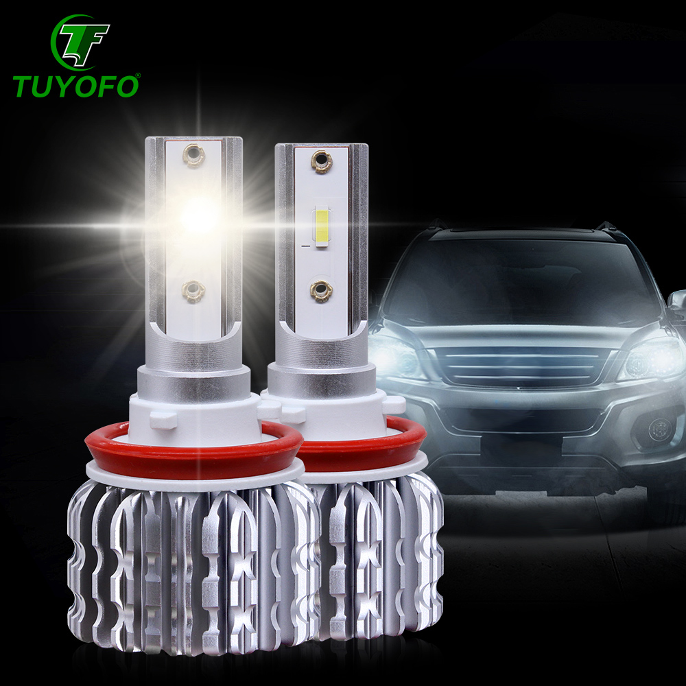 TUYOFO K1 Lamp Unique Chip Spotlight H7 H4 H13 9005Led Headlight Auto Car Light Hb4 9006 H8 H11 Hb3 9012 HIR2 Led Bulb 12000L
