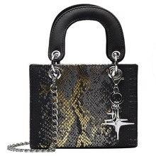 Snake Print Skin Leather Luxury Women Handbags Crossbody Shoulder Bag For Women 2019 Ladies Fake Designer Hand Bag Horseshoe Bag