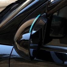 Car Rearview Mirror Rain Shade Rainproof Blades Car Back Mirror Eyebrow Rain Cover 2Pcs For Jeep Compass 2018 2019 Accessories