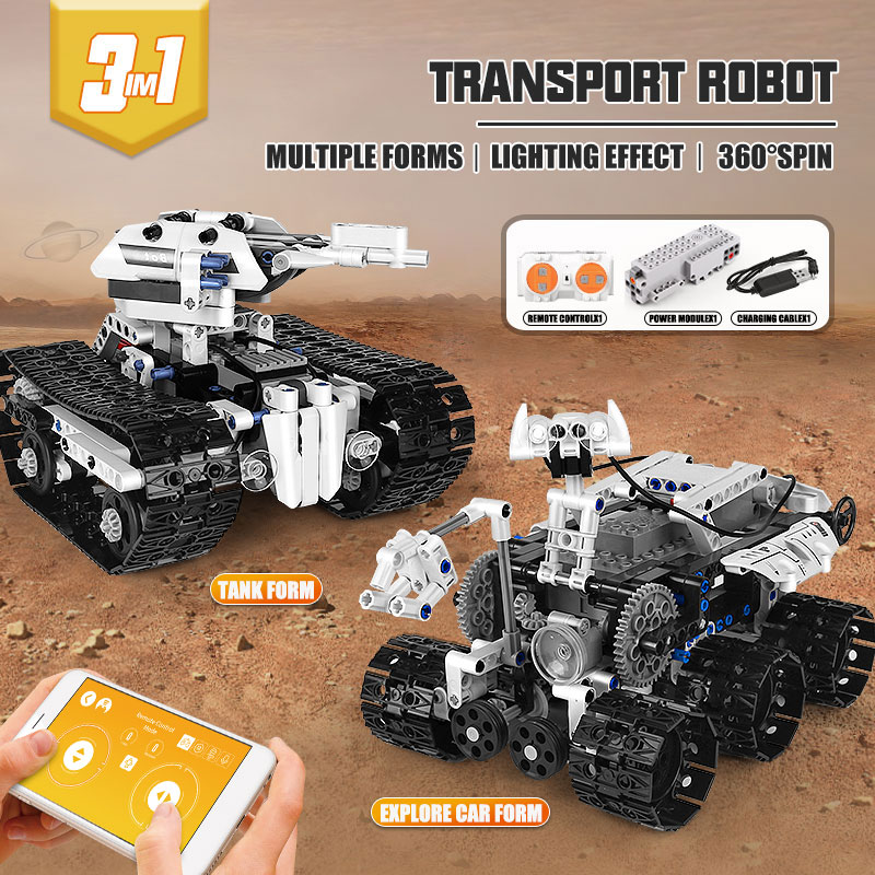 MOULD KING 15046 The APP RC Control Power Transbot Robot