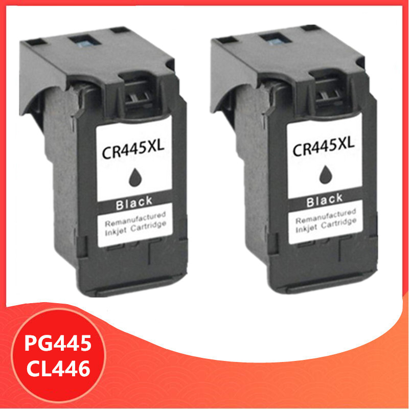 2 X Black PG-445 PG445 CL-446 XL Ink Cartridge for <font><b>Canon</b></font> PG 445 CL 446 for <font><b>Canon</b></font> <font><b>PIXMA</b></font> MX494 MG2440 MG2940 MG2540 <font><b>MG2540S</b></font> IP2840 image