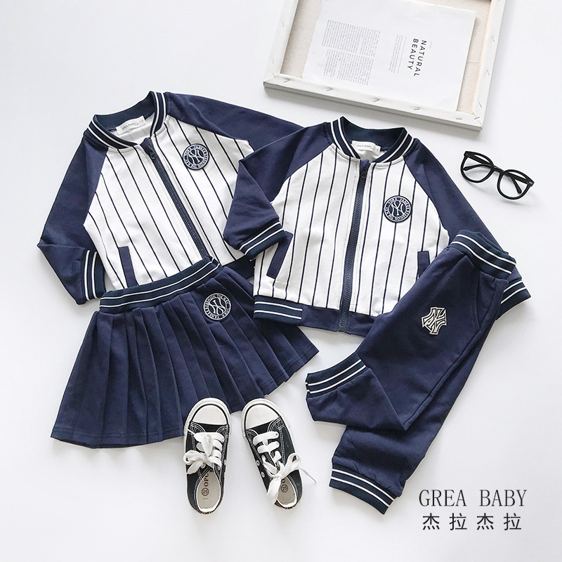 Big Sister Little Brother Matching Clothes Great Baby Baseball Suit for Boys Clothing Sets 2pcs Girls Uniform Dress Sportswear