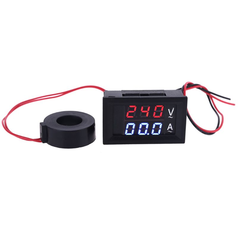 Вольтметр-Амперметр с ЖК-дисплеем, 0,28 дюйма, 60-500 В переменного тока, 10 А, 50 А, а