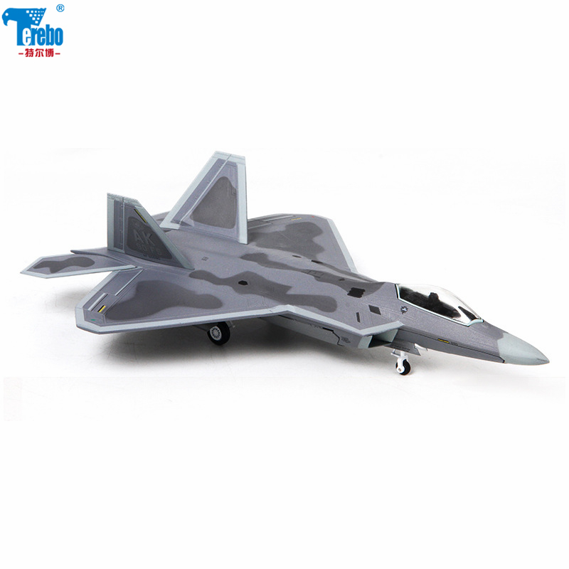 Terebo 1: 72 F-22 liga modelo de aeronave modelo militar modelo de aeronave simulação lutador terminou ornamentos presente coleção