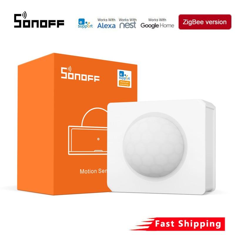 SONOFF SNZB-03 Zigbee датчик движения APP Ewelink ZBBridge требуется Дистанционное Голосовое управление умным домом с Alexa Google Home