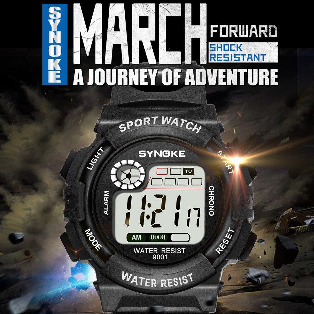 Led Sports Fashion Watch SYNOKE Multi-Function 30M Waterproof Watch LED Digital Double Action Watch часы для занятий спортом