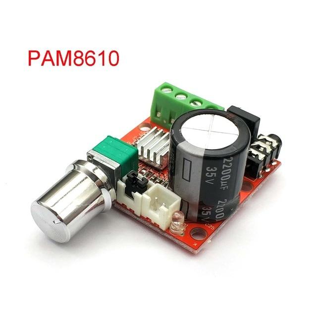 ขายร้อน12V Mini Hi Fi PAM8610เครื่องขยายเสียงระบบเสียงสเตอริโอ2X10W Dual Channel D Classราคาต่ำสุด