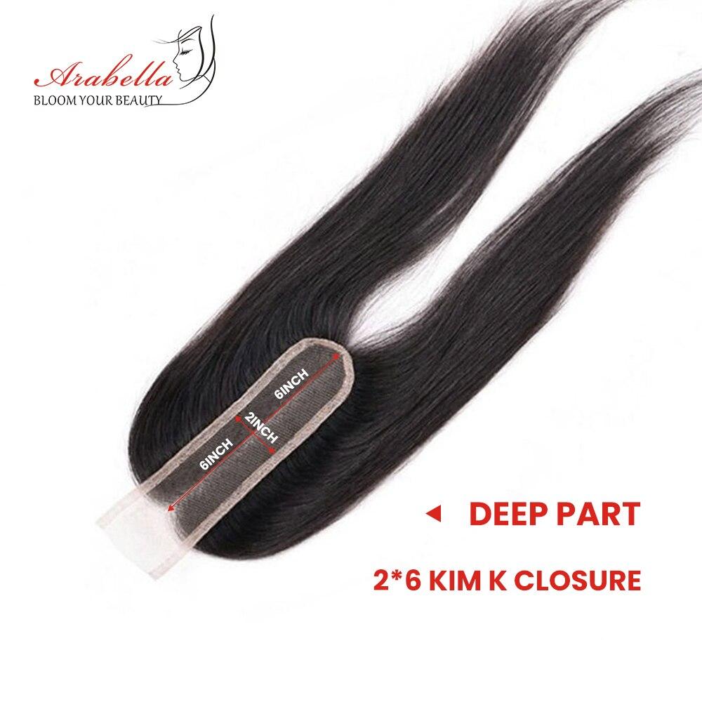 Image 3 - Пряди с закрытием, перуанские прямые волосы, пряди 2*6, Remy человеческие волосы, плетение, Арабелла, пряди-in 3/4 пучка на сетке from Пряди и парики для волос on AliExpress