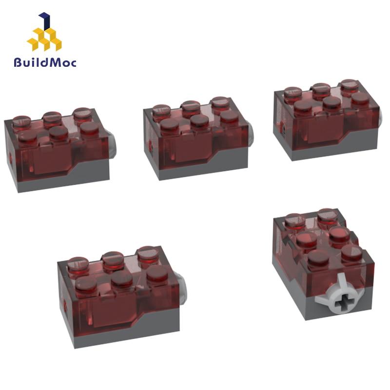 BuildMOC Compatible Assembles Particles 54869 2x3x1 1/3 Glowing Brick Building Blocks Parts DIY Educational Gift Toys
