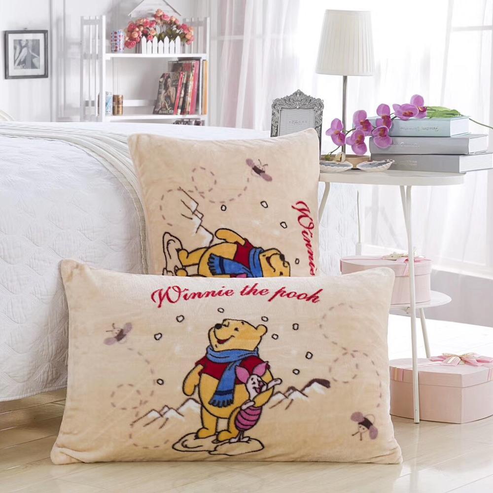 Disney Flanell Kissenbezüge 1 stück Cartoon Winnie the Pooh gelb Kissen Abdeckung für kinder Dekorative PillowsCase 48x74cm heißer verkauf
