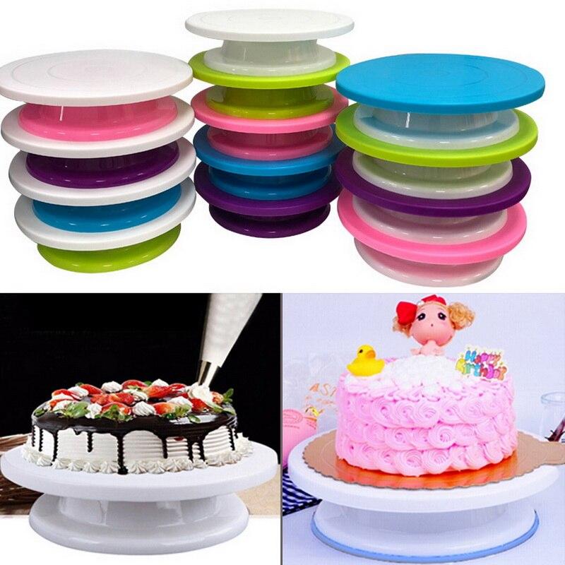 Пластиковый вращающийся стол для торта DIY подставка для торта вращающаяся подставка для торта инструменты для выпечки Кухонные Принадлежн...