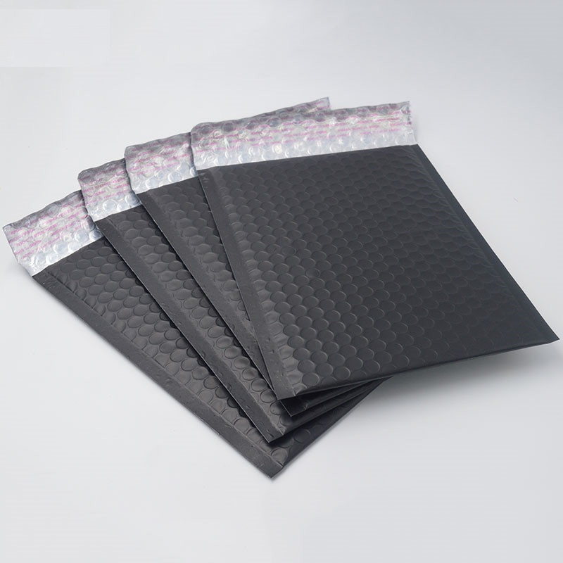 10pcs/lot New Arrival Matte Black Foil <font><b>Bubble</b></font> <font><b>Mailers</b></font> Metal Plastic Padded Envelope Shipping Bags Mailing Bags <font><b>large</b></font> image