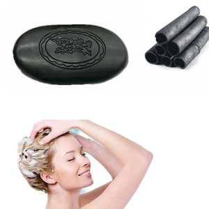 New Bamboo Charcoal Black Hair Style Styling Care Dandruff Wash Clean Oil Control Shampoo Soap