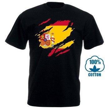 Torn Spain FlagT-Shirt For Men T-Shirts Harajuku Shirt Short T-Shirt Hip Hop Oversized T Graphic Shirts - discount item  50% OFF Tops & Tees