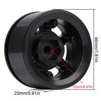 "INJORA 4Pcs Plastic 1.55"" Beadlock Wheel Rim White/ Black for 1/10 RC Crawler Car Axial 90069 D90 TF2 Tamiya CC01 LC70 MST JIMNY 2"