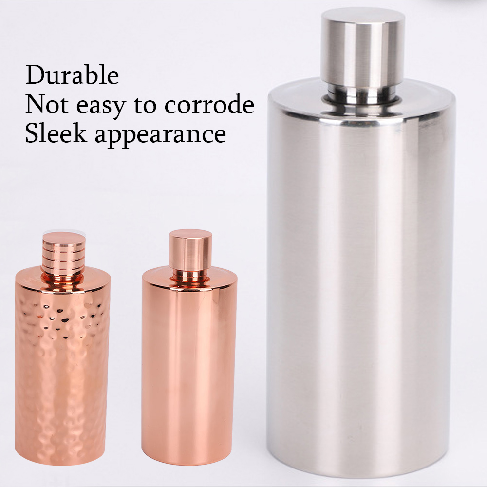 500ML Portable Water Bottle High Quality Stainless Steel Whisky Flagon Alcohol Hip Flask Personalized Cylindrical Bottle Mug Can