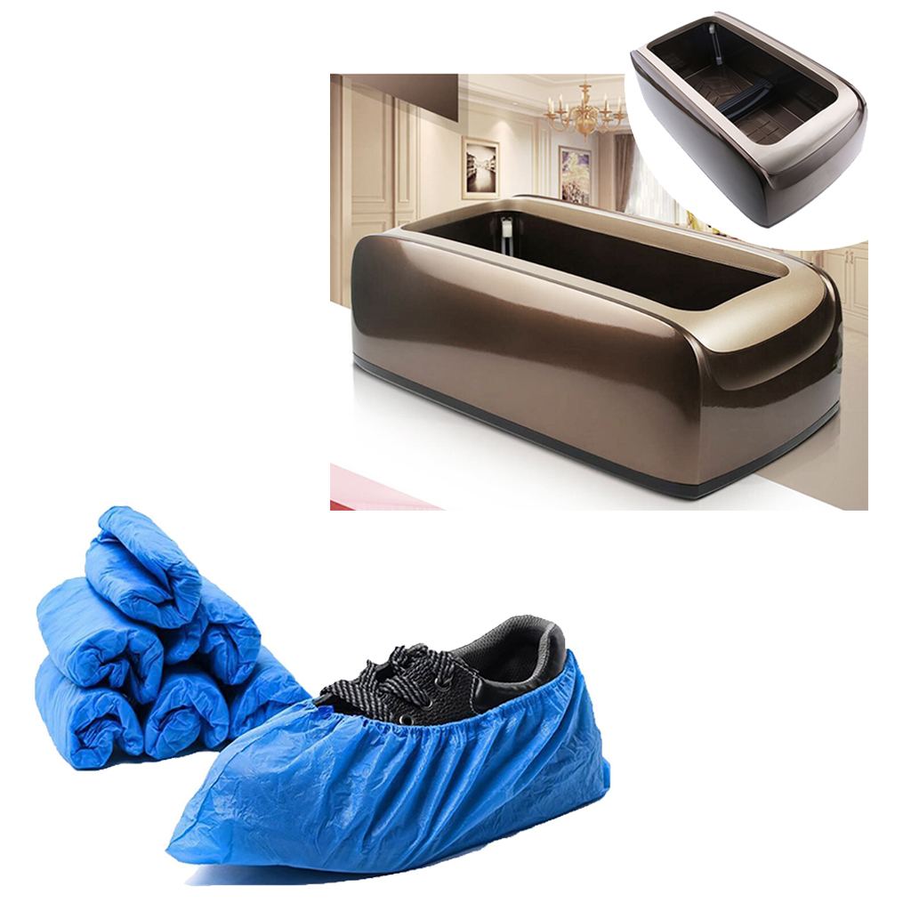 Automatic Shoe Cover Dispenser Machine with 100 Non-Woven Overshoes Supplies